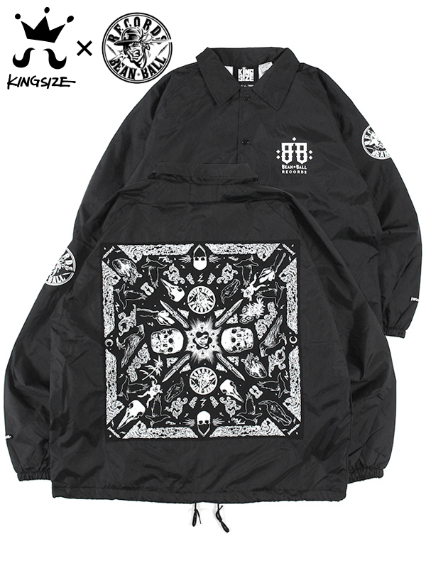 "KINGSIZE(キングサイズ) ""BEAN BALL RECORDS x KINGSIZE NYLON JACKET"""